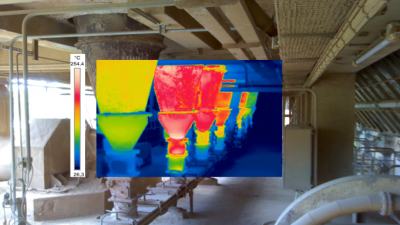 Thermographie d'une installation industrielle